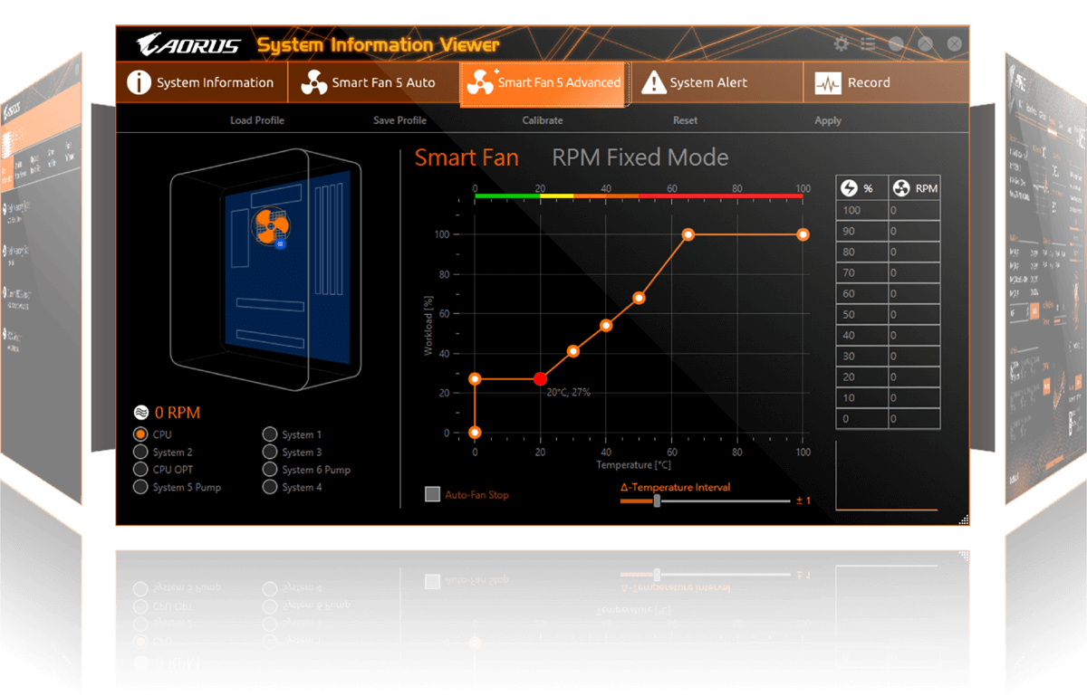 AORUS System Information Viewer graphical UI