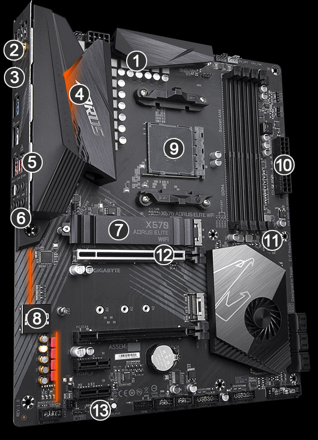 Xtreme, five motherboard in a abstract background