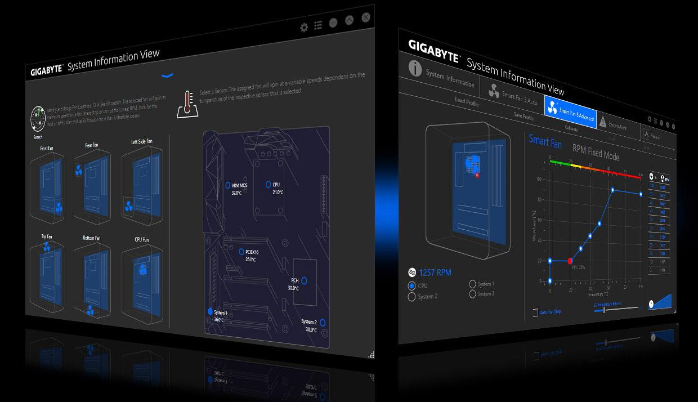 Screenshot of System Information Viewer in the fan control menu
