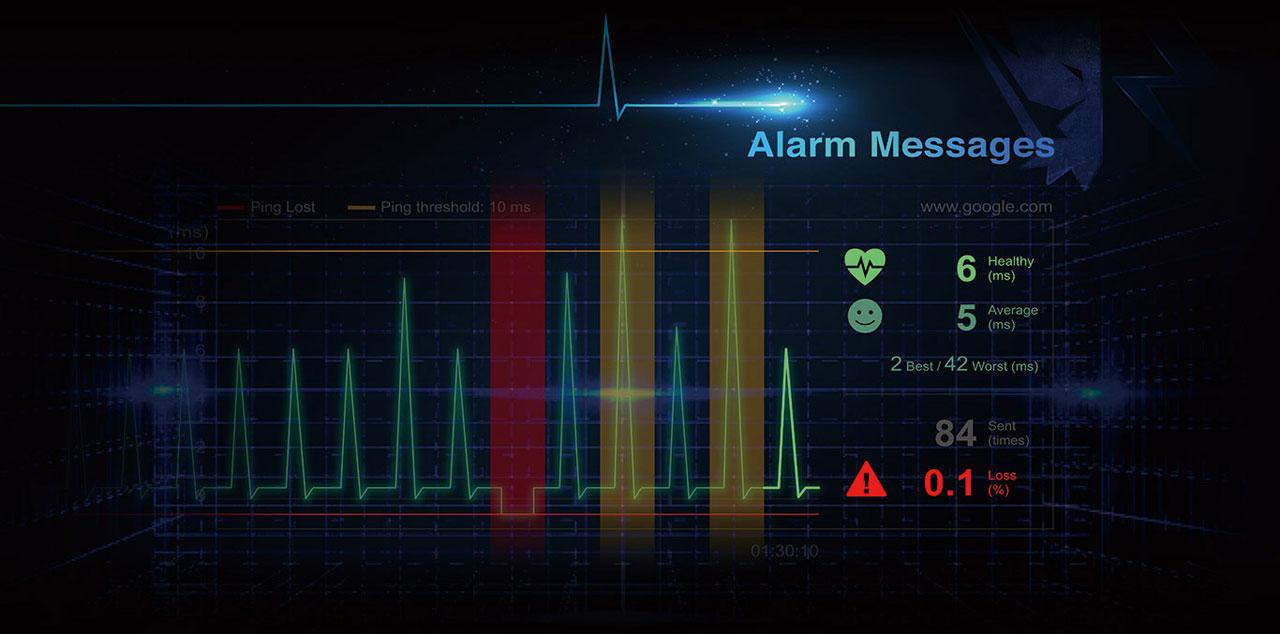 Screenshot of network monitoring utility