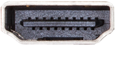 Closeup of the HDMI connector