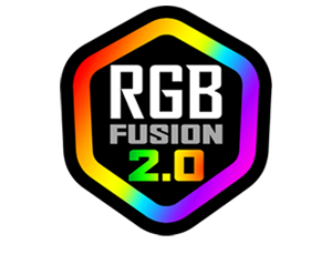 RGB_Fusion, the components of computer together in a black background