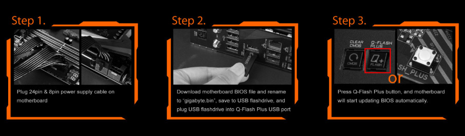 qflashstep2, three steps to show you how to use Q-flash plus.