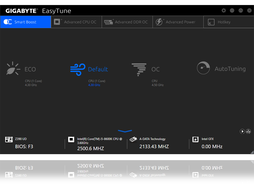 software_easytune, a screenshot of easytune