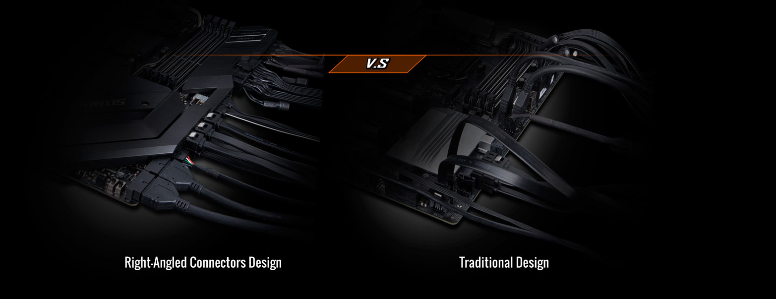 two image showing different between right-angled design and traditional design
