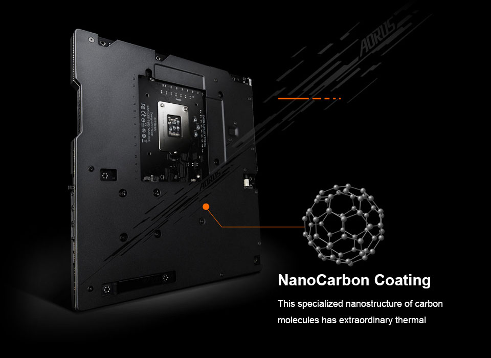 NanoCarbon of motherboard