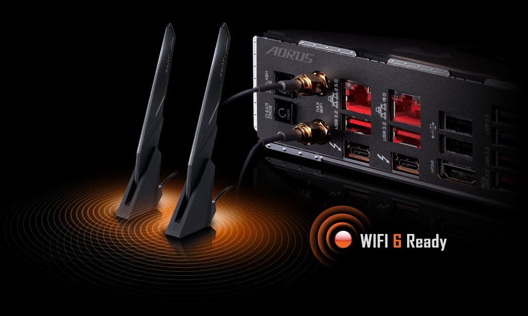 dual wifi 6 ready icon
