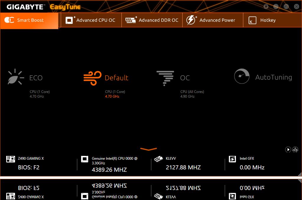 software_easytune, a screenshot of easytune