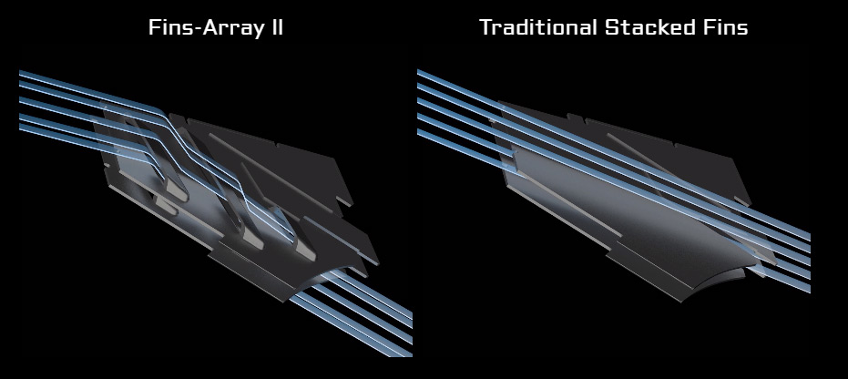 different between fins-Array and traditional stacked fins