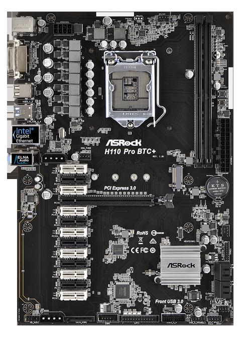 asrock h110 pro btc+ 13 gpu mining motherboard cryptocurrency
