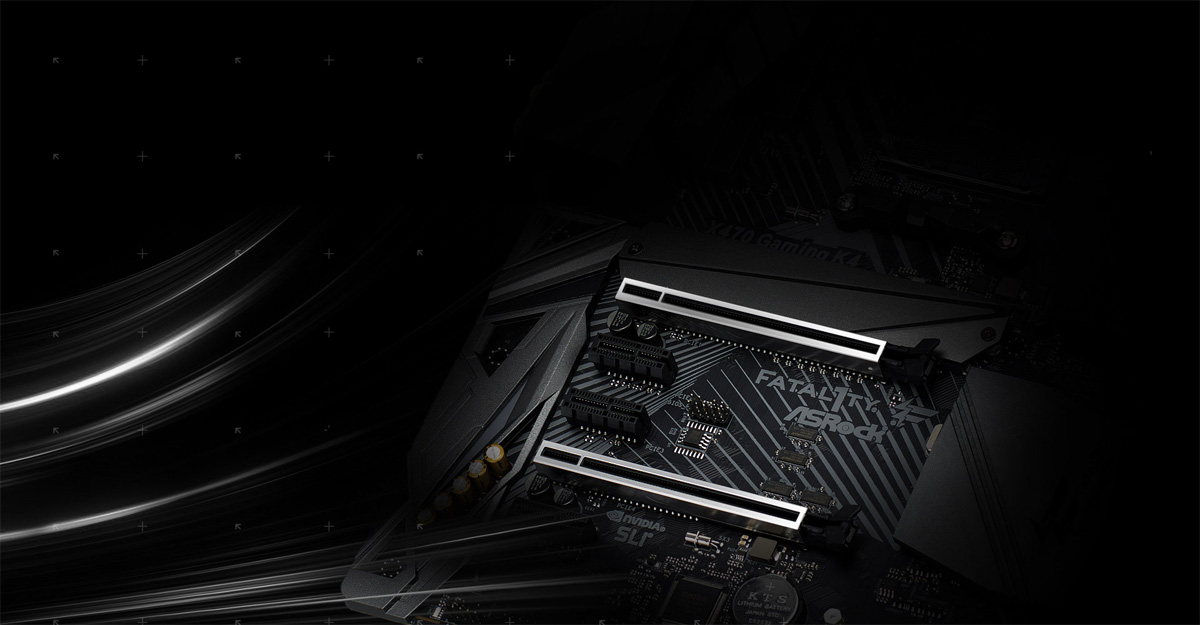 Highlight of the ASRock X470 Motherboard's Two Steel PCI-E Slots