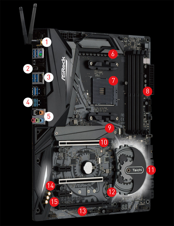 ASRock X470 Taichi AM4 AMD Ryzen 3000 Series CPU Ready ATX AMD Motherboard  - Newegg com