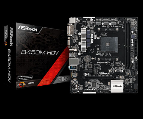 Details about ASRock B450M-HDV AM4 AMD Promontory B450 SATA 6Gb/s USB 3 1  HDMI Micro ATX AMD M