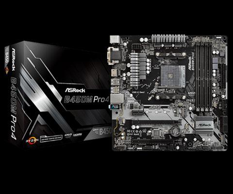 ASRock B450M PRO4 AM4 Micro ATX AMD Motherboard - Newegg com