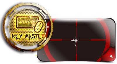 Key Master logo next to a red crosshair