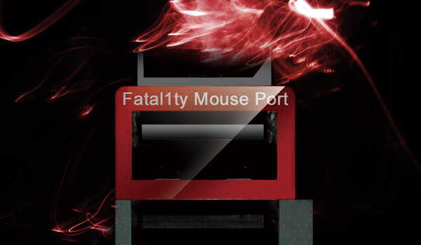 Closeup of the Fatal1ty moust port