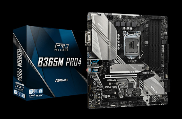 B365M Motherboard with Its Product Box
