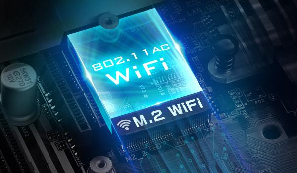 802.11ac WiFi logo with M.2 WiFi text below it