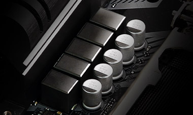 Closeup of the power choke