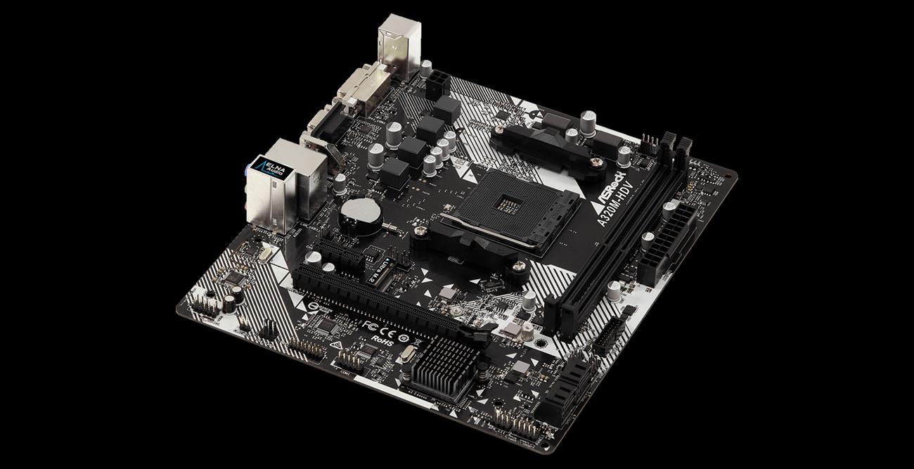 ASRock A320M-HDV R4 0 AM4 Micro ATX AMD Motherboard - Newegg com