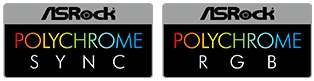 ASRock POLYCHROME SYNC and ASROCK POLYCHROME RGB Badges