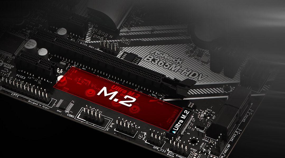 the M.2 slot of ASRock B365M-HDV motherboard