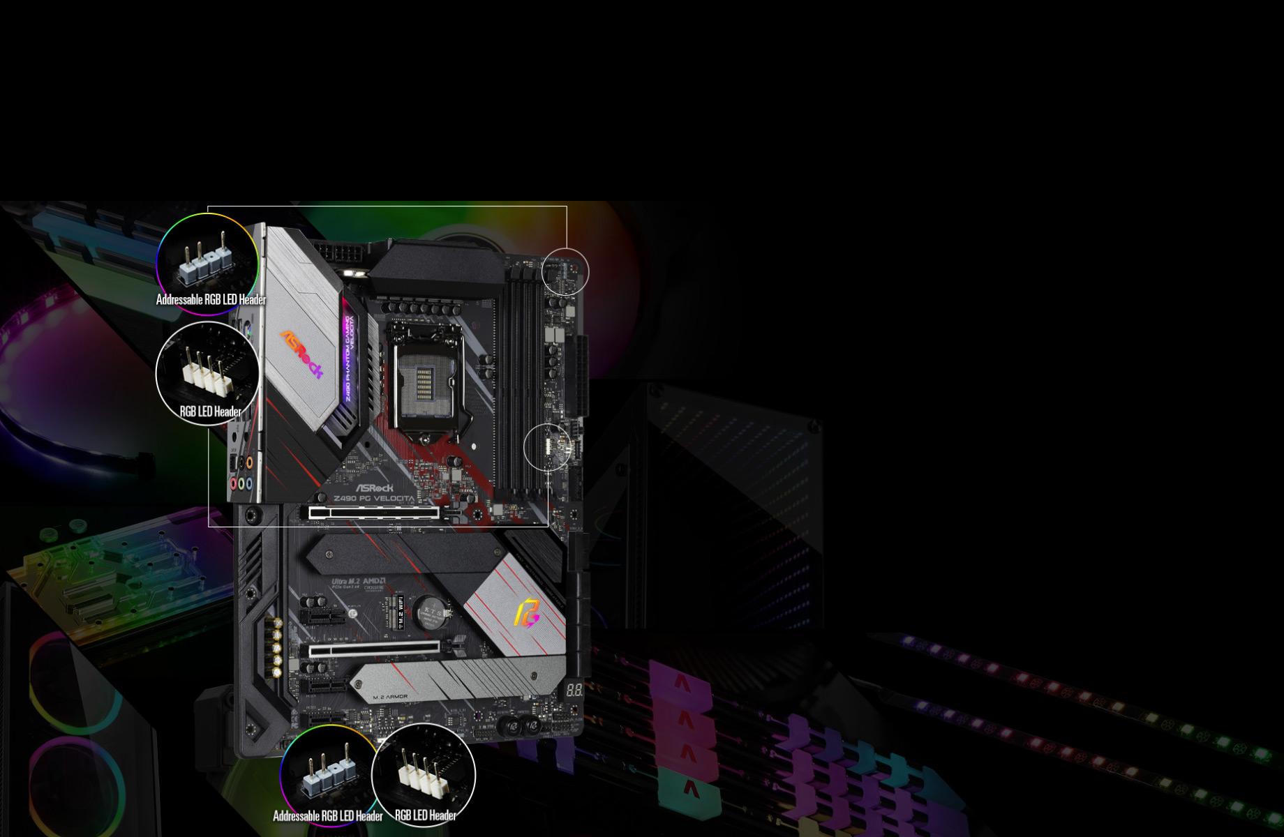 POLYRGBLED-X570 Phantom Gaming 4 WiFi ax