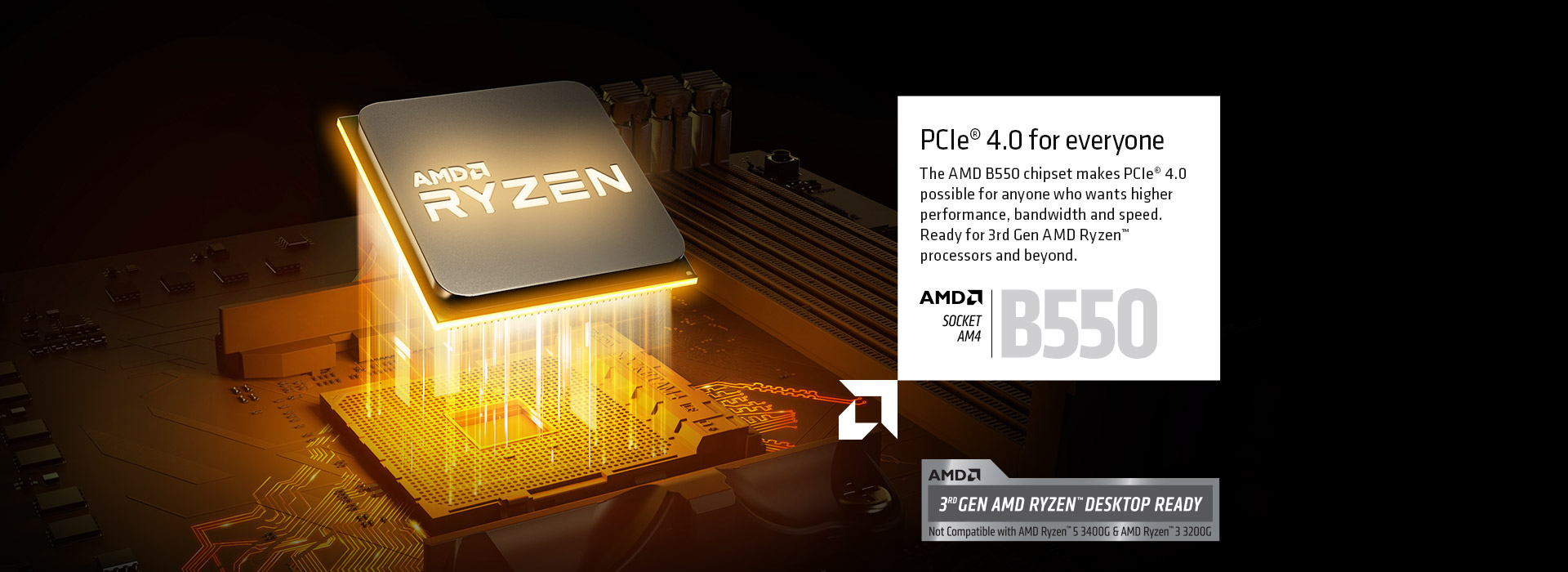 AMD RYZEN of the motherboard