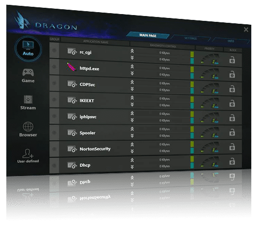 screenshot of Dragon2.5GLAN-UI