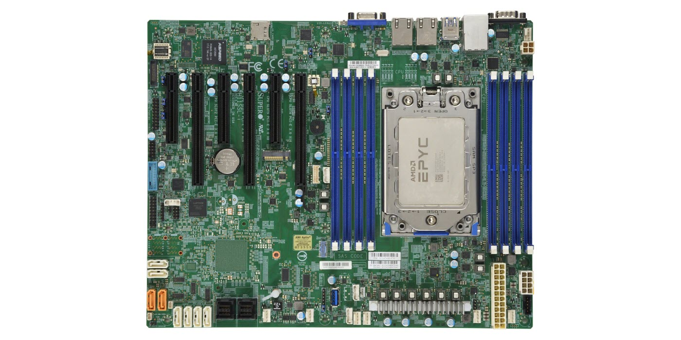 Supermicro Mbd H11ssl I Mainboard Installed With Amd Epyc Rome 16 Cores 7302p Cpu Newegg Com