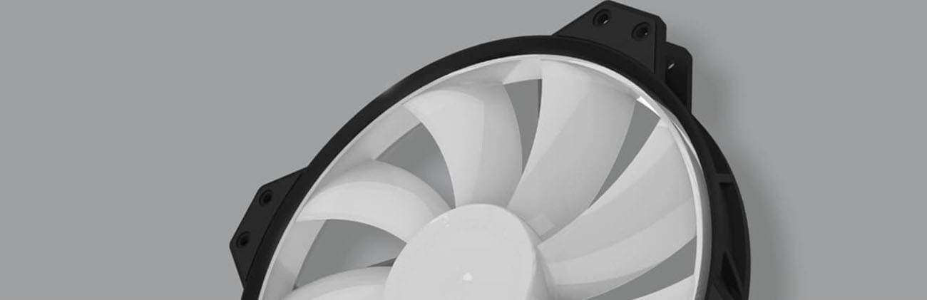 Cooler Master MF200R with white fan blades