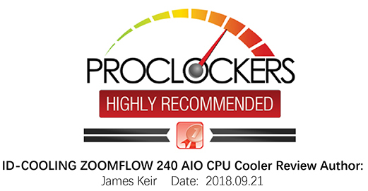 ID-COOLING ZOOMFLOW 240 Addressable RGB AIO Liquid Cooler, 240mm Radiator,  400mm Sleeved Tubing, 2x120mm PWM Fans, TR4/AM4/LGA2066/115X - Newegg com