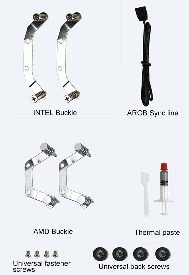 Multi accessories for AMD and Intel procesoor.