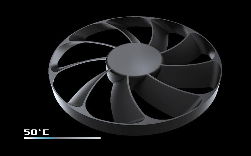 close look at the 0dB fan