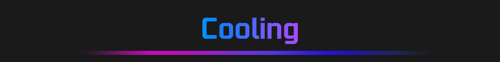 Stylized Text That Reads: Cooling