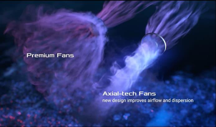 diagram of Axial-tech fans airflow