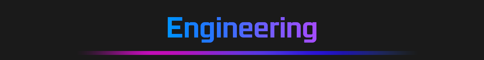 Stylized Text That Reads: Engineering