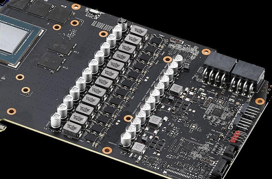 close look at the PCB board