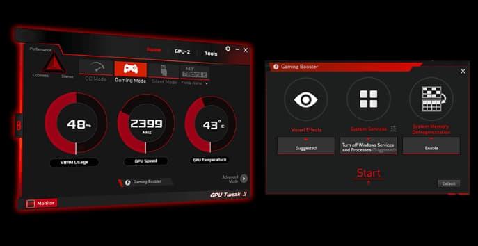 interface of GPU Tweak II