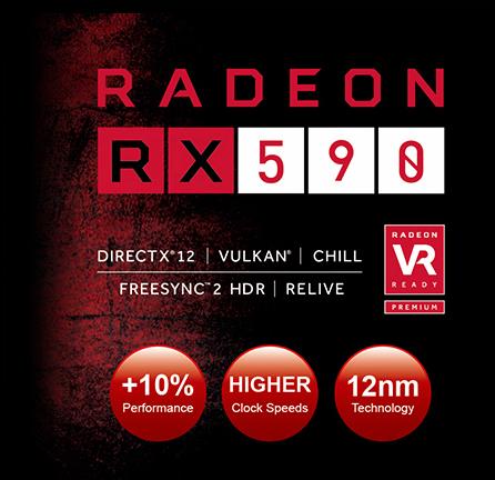 PowerColor RED DEVIL Radeon RX 590 DirectX 12 AXRX 590 8GBD5-3DH//OC 8GB 256-Bit