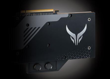 Liquid Devil Radeon RX 5700 XT Backplate view