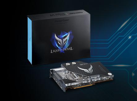 Liquid Devil Radeon RX 5700 XT side view and packing box
