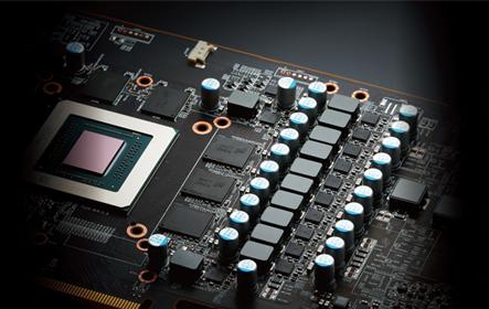 Liquid Devil Radeon RX 5700 XT GPU close-up