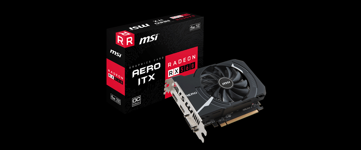 MSI Radeon RX 560 DirectX 12 RX 560 AERO ITX 4G OC Video Card - Newegg com