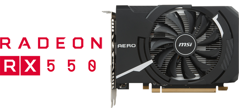 MSI Radeon RX 550 DirectX 12 RX 550 AERO ITX 4G OC Video Card - Newegg com