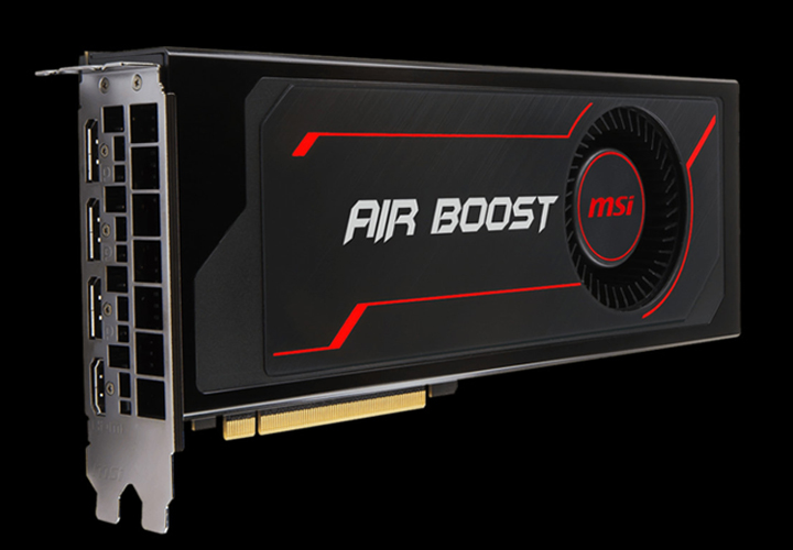 MSI Radeon RX Vega 56 DirectX 12 RX Vega 56 Air Boost 8G OC 8GB 2048-Bit  HBM2 PCI Express x16 HDCP Ready CrossFireX Support ATX Video Card -