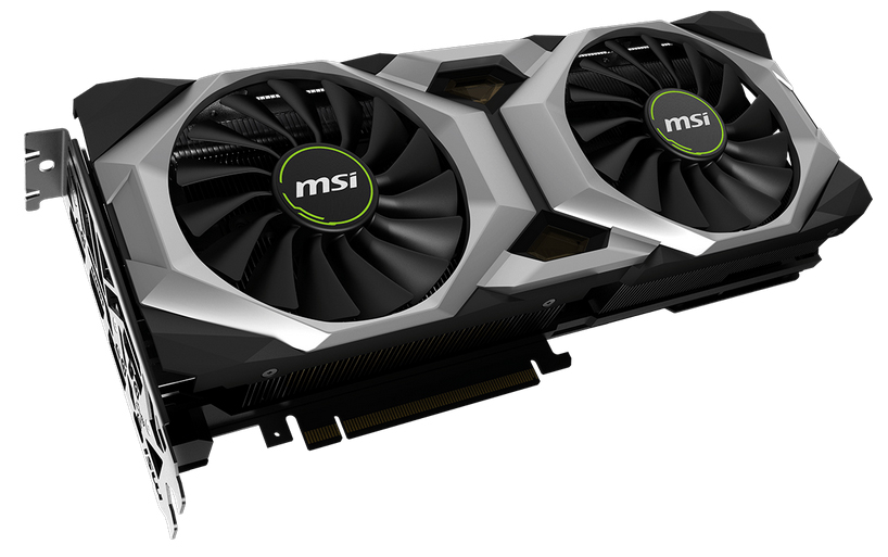 RTX 2080 VENTUS 8G OC Graphics Card Angled Up to the Right