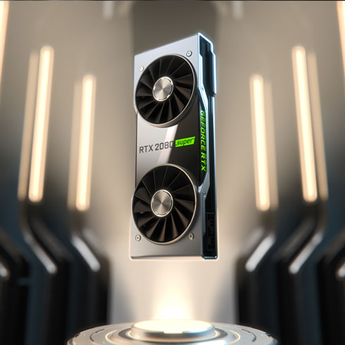 a NVIDIA RTX 2080 SUPER graphics card