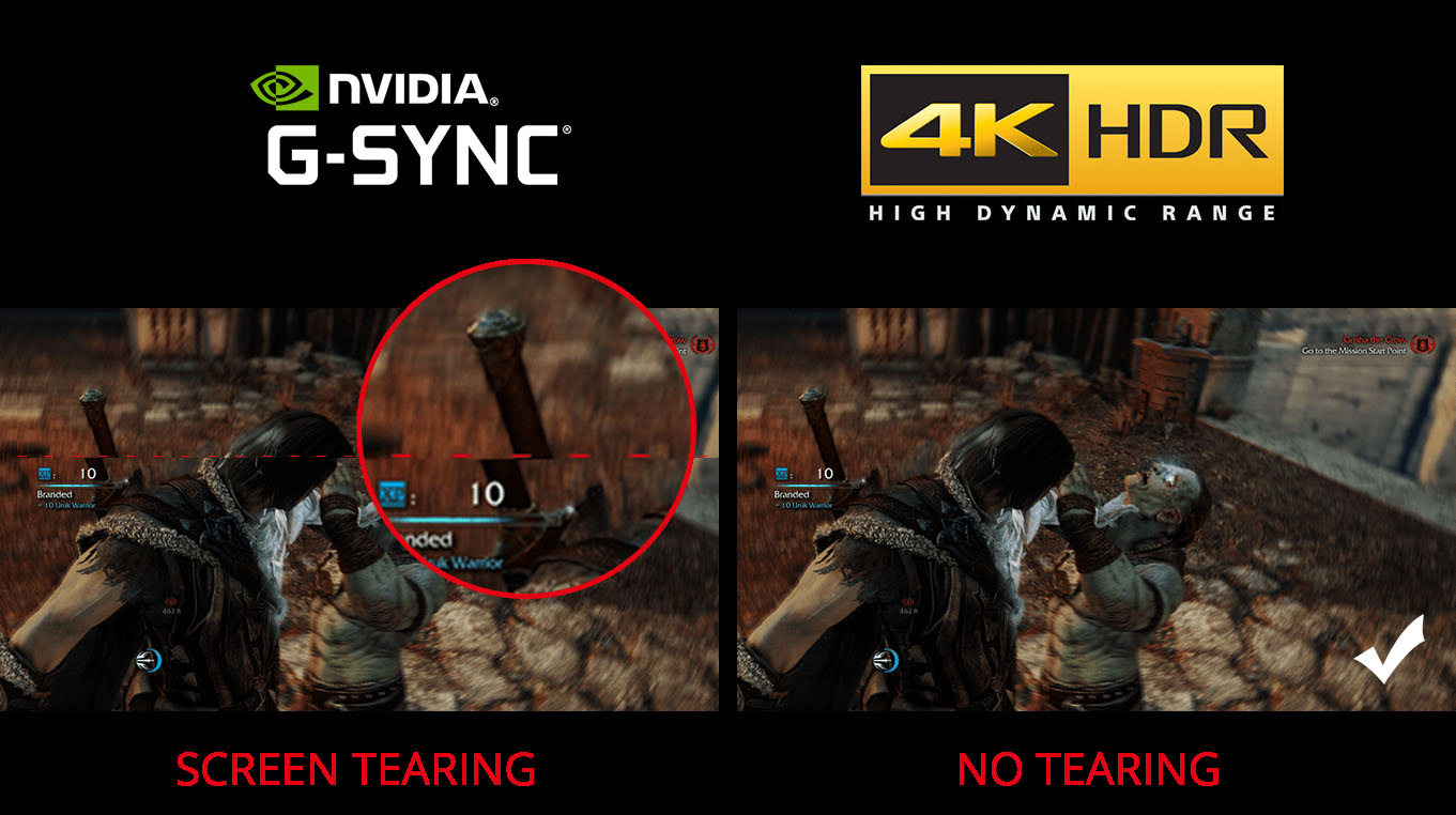 a comparison of screen tearing and no tearing