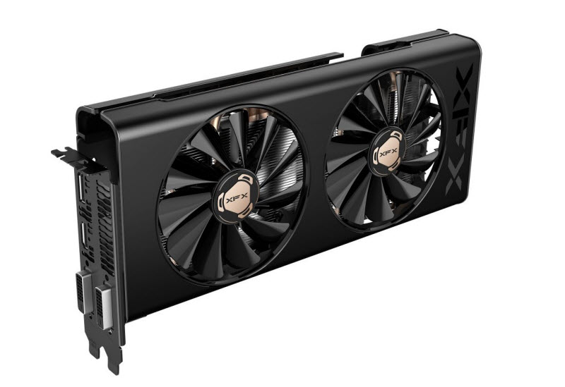 the front view of XFX RX-580P8RFD6 graphics card